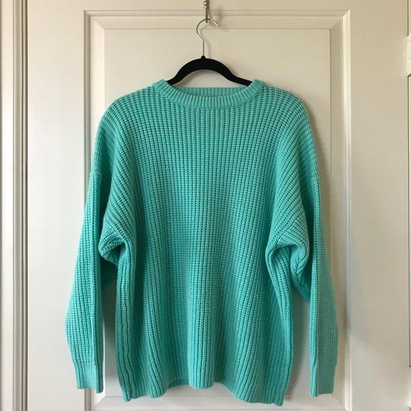 3c63fe3ebe Vintage turquoise chunky sweater